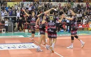 Perugia, esulta, per la vittoria