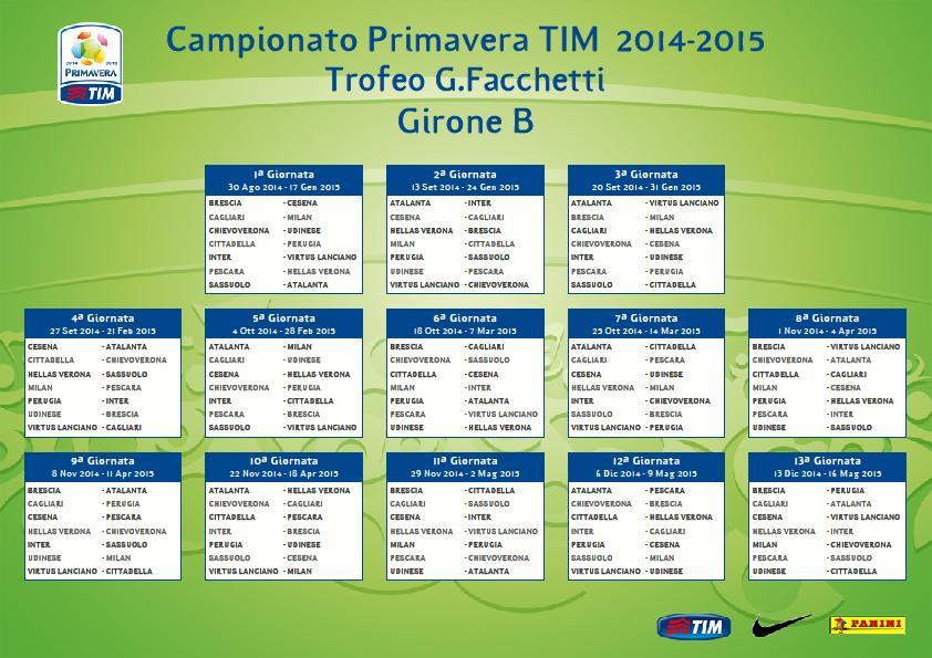 Campionato Primavera Calendario.Calendario Primavera Si Inizia A Cittadella Si Chiude In Casa