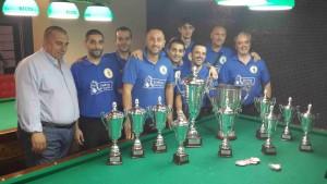 Biliardo la squadra KIWI vincitrice della coppa campioni Umbria 2015 sezione boccette