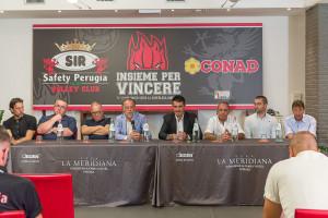 Conferenza di presentazione nuovo Main Sponsor SIR Safety Conad Perugia