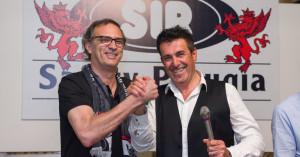 coach Castellani con il presidente Sirci