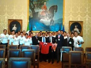 Lucarini in Senato con rappresentanti Perù