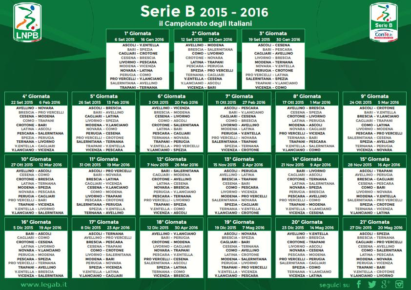 Calendario Serie B Pdf.Ufficiale Entella E Ascoli Completano La Serie B Conte It