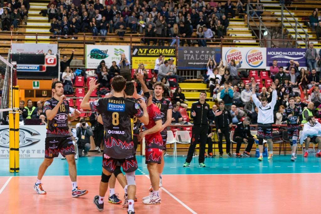 8th Final - Away match. 2016 CEV Volleyball Cup - Men. PalaEvangelisti Perugia IT, 16.12.2015