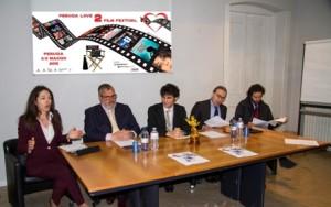 Da sin. Adriana Galgano, Michele Fioroni, Daniele Corvi, Walter Verini, Giacomo Leonelli