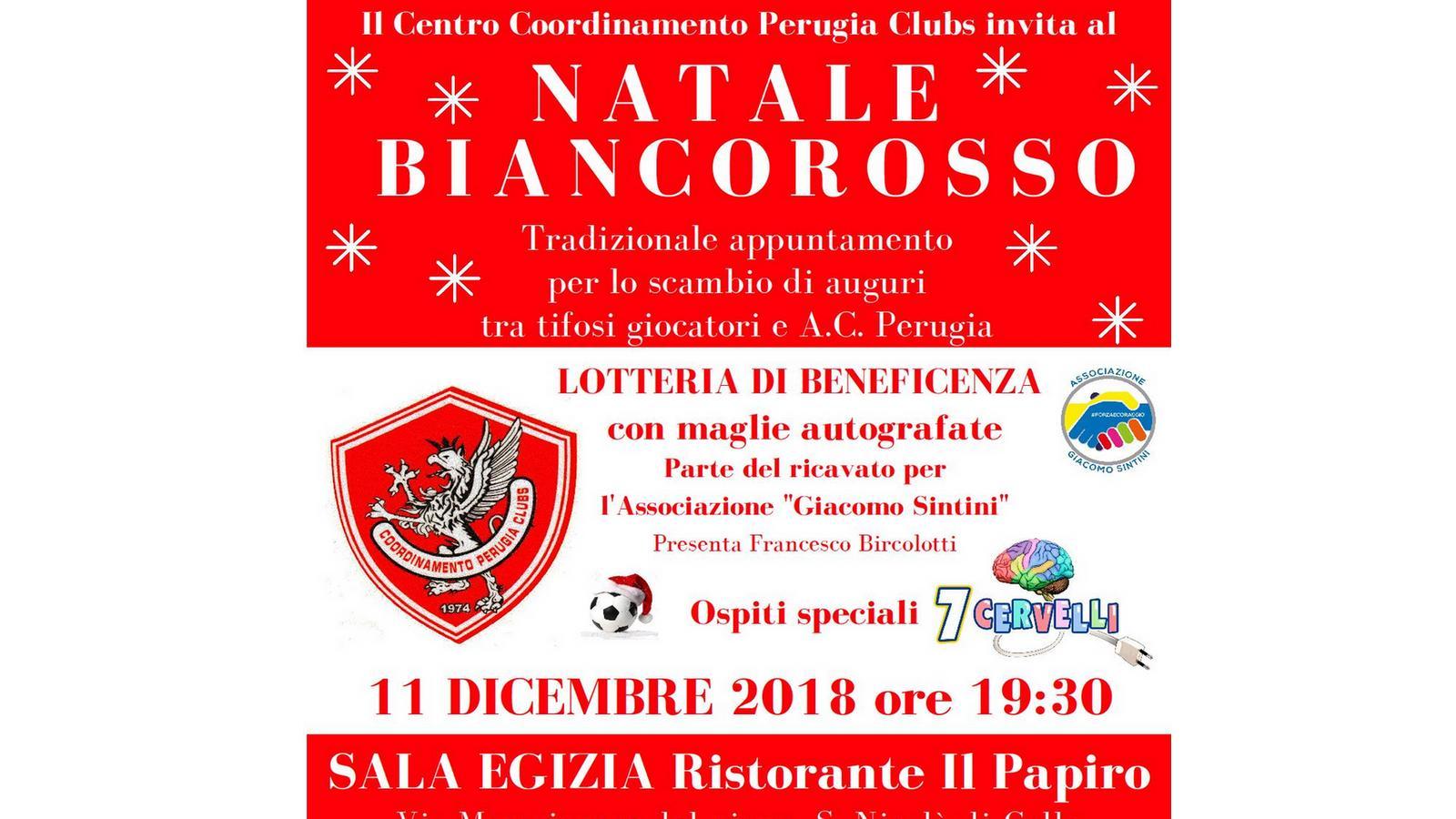 7 Cervelli Auguri Di Natale.Natale Biancorosso 11 Dicembre 2018 Alle Ore 19 30