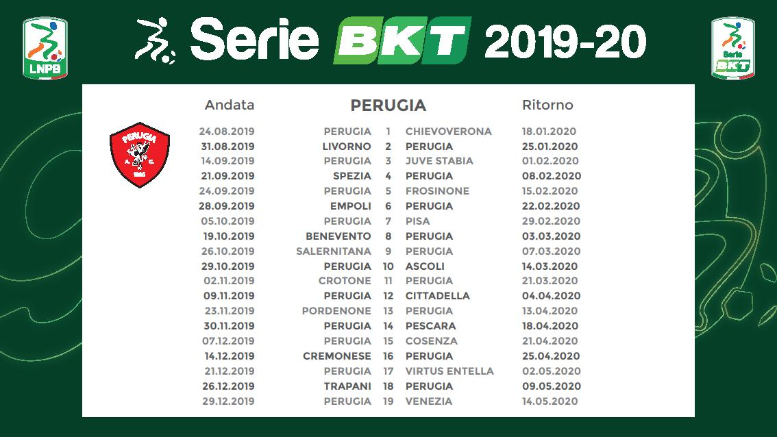 Calendario Serie B 2020 15.Ecco Il Calendario Del Grifo Del Campionato Serie B 2019 2020