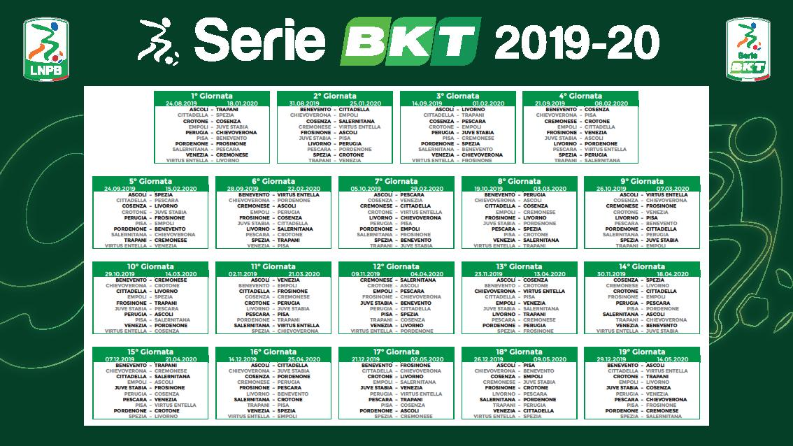 Calendario Juventus Campionato.Il Calendario Completo Del Campionato Serie B 2019 2020